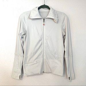Lululemon white high collar jacket A414